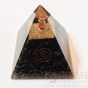 BlackTourmalineOrgoneChakraEnergyPyramid-WithCrystalPoint