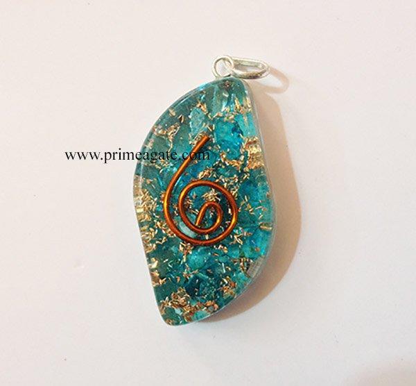 BlueEyeShapedOrgone-Pendant