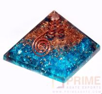 Blue(onyx)OrgoneEnergyPyramid-WithCrystalPoint