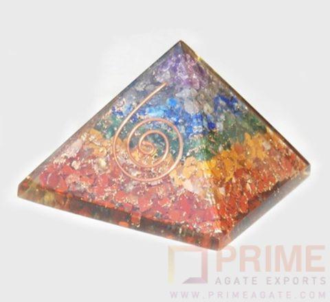 ChakraLayeredOrgonePyramid-WithReikiSymbol