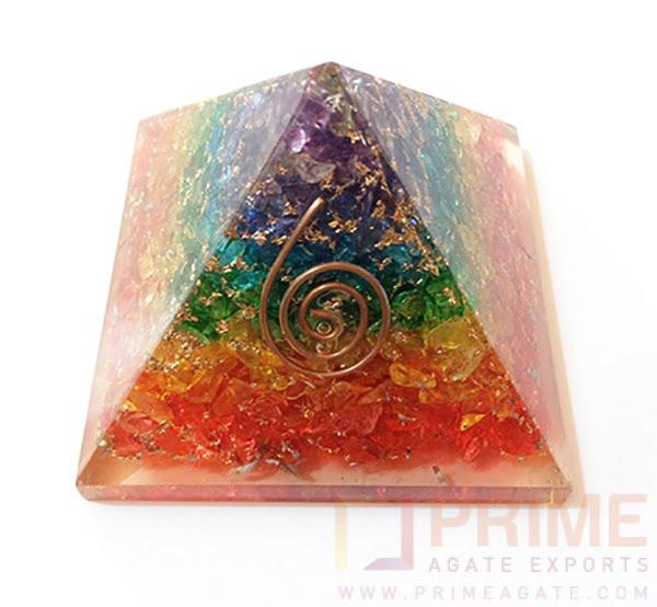 ChakraOnyxLayeredOrgonePyramid-WithReikiSymbol