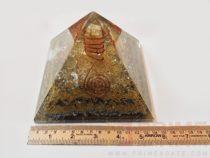 CrystalOrgoneAluminiumCopperLayerPyramid-WithCrystalPoint