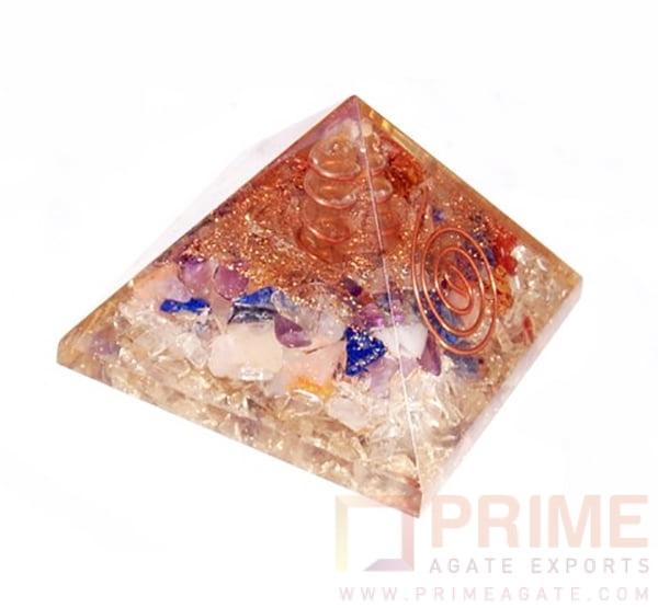 MixGemstoneOrgoneEnergyPyramid-WithPencilPoint
