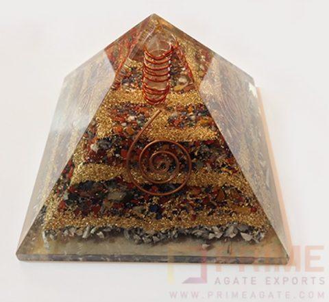 MultistoneGemstoneCopperAluminiumLayerPyramid-withCrystalPoint