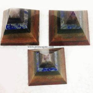 7ChakraStonesBonded-Pyramids