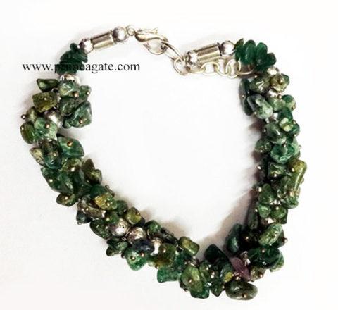 BloodStoneChipsFuseWire-Bracelet