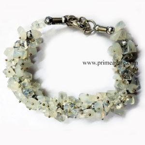 CrystalQuartzChipsFuseWire-Bracelet