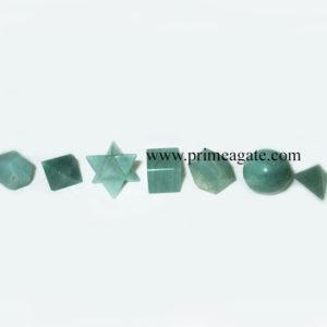 GreenAventurine7Pcs-GeometrySet