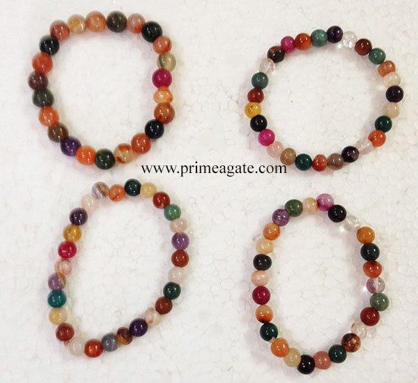 MultiStoneElasticBeads-Bracelets