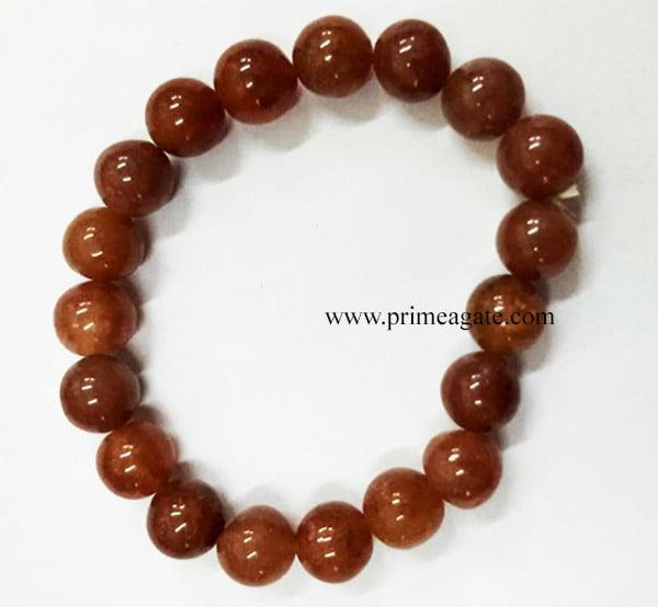 RedJasperBeadsElastic-Bracelet