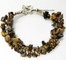 TigerEyeChipsFuseWire-Bracelet