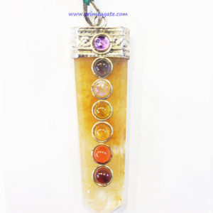 YellowAventurineFlatChakra-Pendant