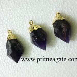AmethystEletroplated-PointPendants