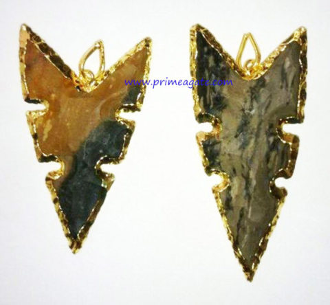 FancyJasperElectroPlated-Pendant(Design3)