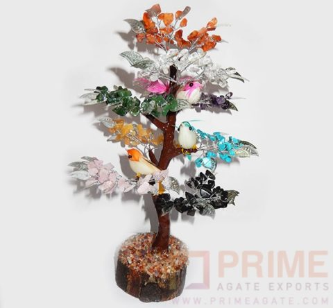 MulticolourGemstoneTree-WithSparrows
