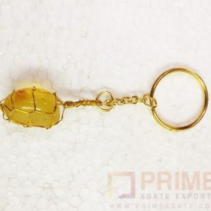 YellowOnyxTumble-Keyring