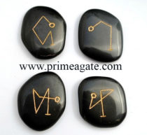 BlackJasperArchAngelPalmStone-Set
