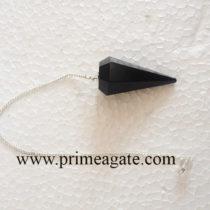 BlackJasperFaceted-Pendulum