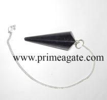 BlackTourmalineFaceted-Pendulum