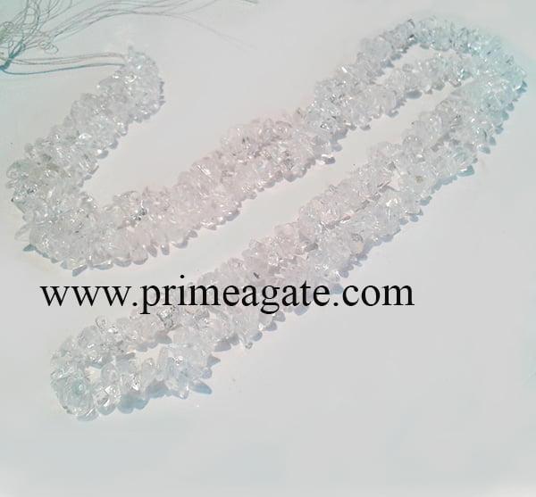 CrystalQuartzChips-Necklace