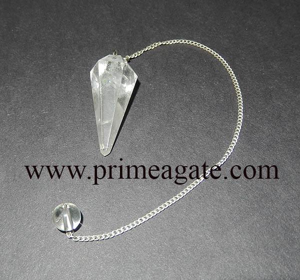 CrystalQuartzFaceted-Pendulum