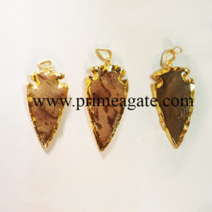 FancyJasperElectroplated-Pendants