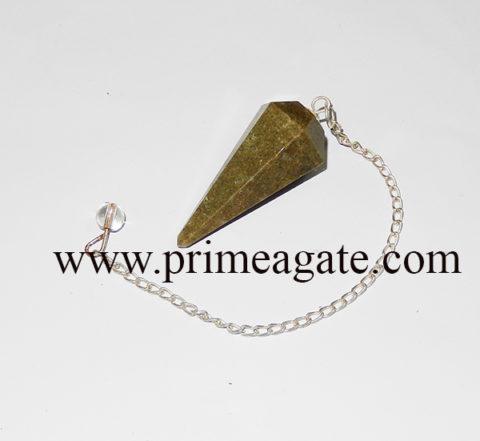 GrassJasperFaceted-Pendulum