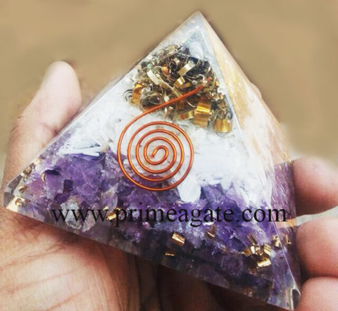 OrgoneSelenite-AmethystEnergy-Pyramid