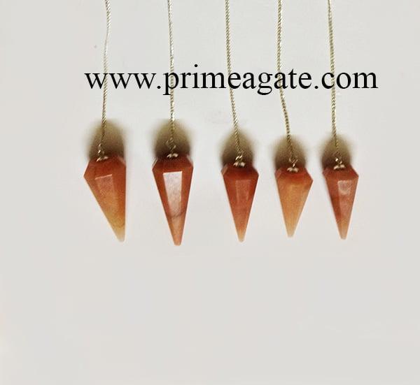 RedAventurineFaceted-Pendulums