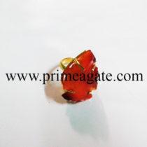 RedCornelianAdjustableArrowhead-Ring
