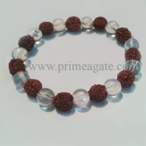 Rudraksha-CrystalBead-Bracelet