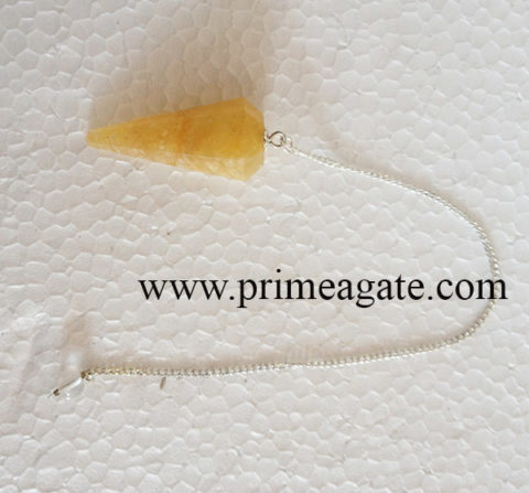 YellowAventurineFaceted-Pendulum