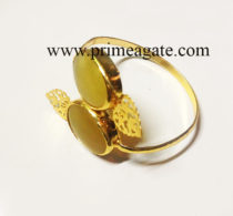YellowOnyxOvalShape-Bangle