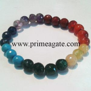 7ChakraFacetedBeads-Bracelet