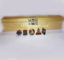 7ChakraStones5Pcs-GeometrySetWithWoodenBox