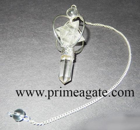 CrystalQuartz3PieceMerkabaStar-Pensulum