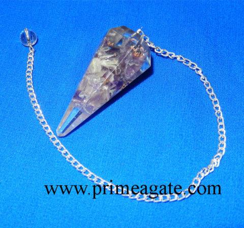 Amethyst-Orgone-Pendulum