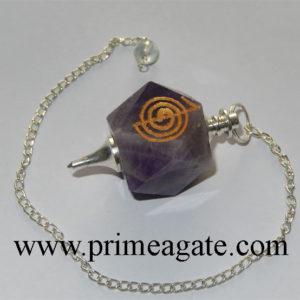 Amethyst-Reiki-Engraved-Pendulum