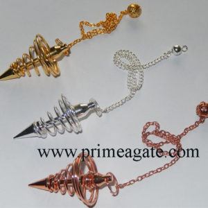 Assorted-Golden-Silver-Copper-Coil-Pendulum