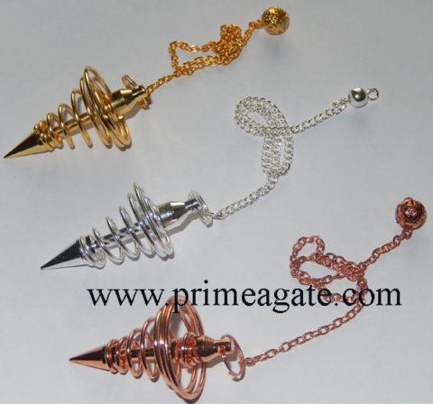 Assorted-Golden-Silver-Copper-Coil-Pendulum