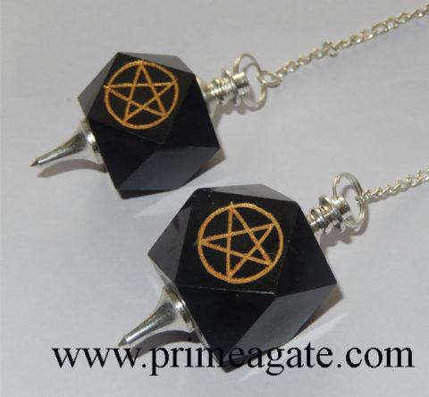 Black-Agate-Pentagram-Engraved-Pendulums