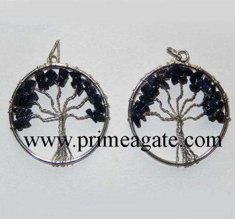 Blue-Gold-Stone-Tree-Of-Life-Pendants