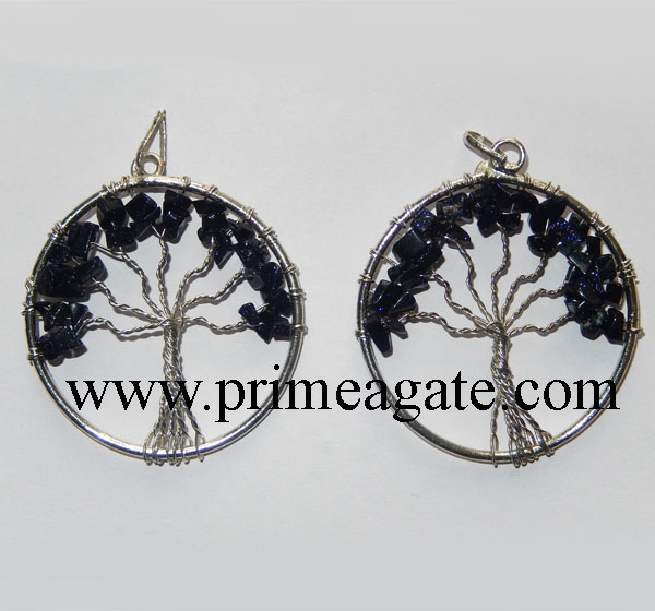 Blue-Gold-Stone-Tree-Of-Life-Pendants