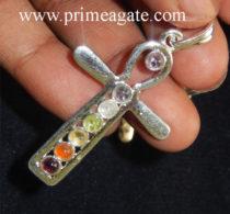 Chakra-Cross-Metal-Pendant