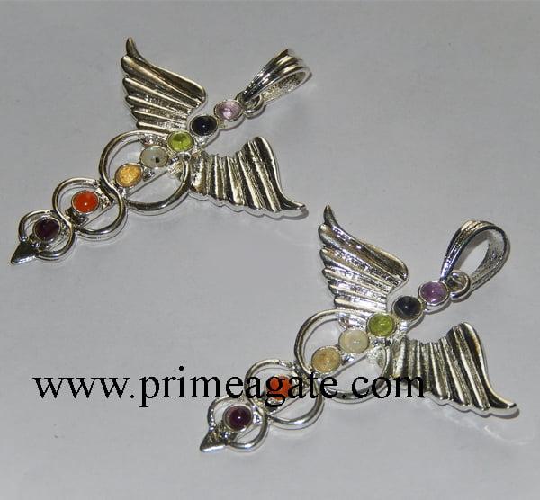 Chakra-Eagle-Metal-Pendants