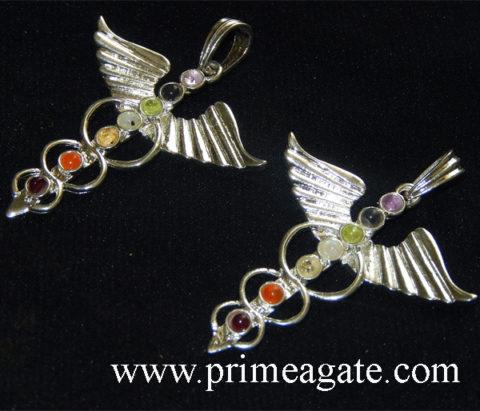 Chakra-Eagle-Shape-Metal-Pendants