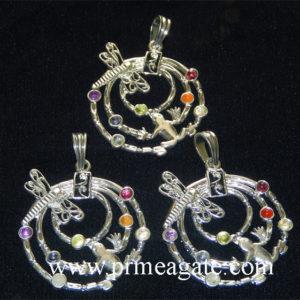 Chakra-Frog-Butterfly-Metal-Pendants