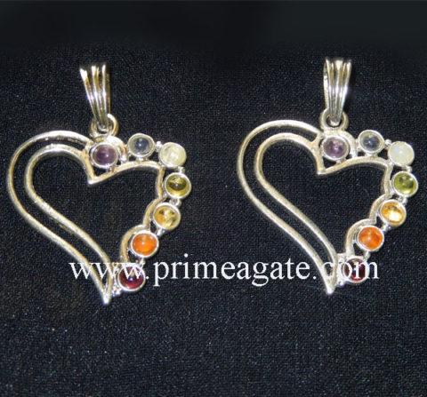Chakra-Heart-Metal-Pendants