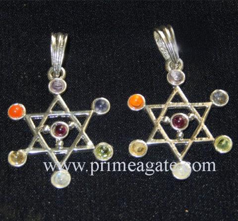 Chakra-Star-Metal-Pendants