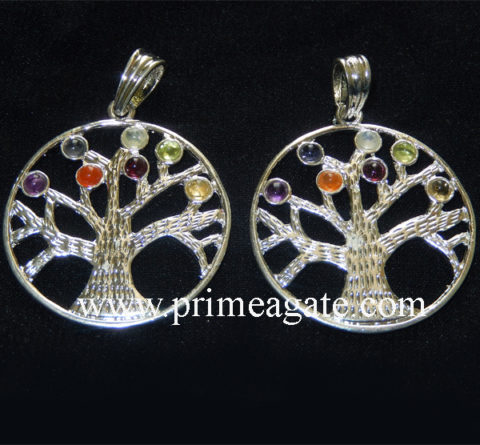 Chakra-Tree-Of-Life-Metal-Pendants